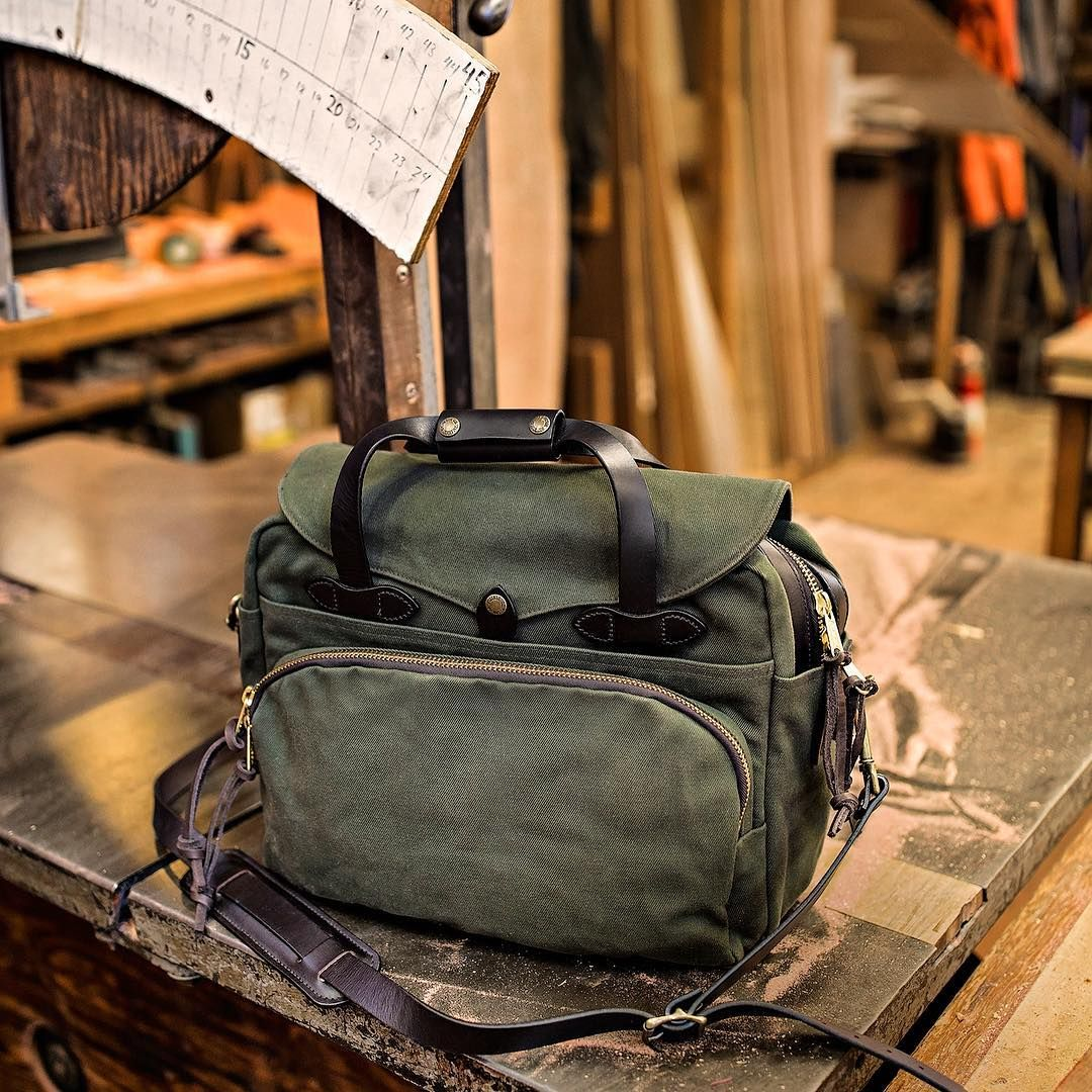 Filson 11070258 Padded Computer Bag Otter Green