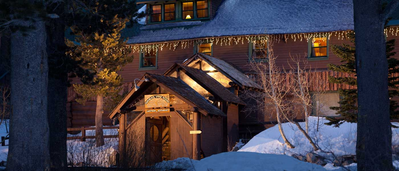 Lakefront Mammoth, nestled inside historic Tamarack Lodge, features views  of Twin Lakes.