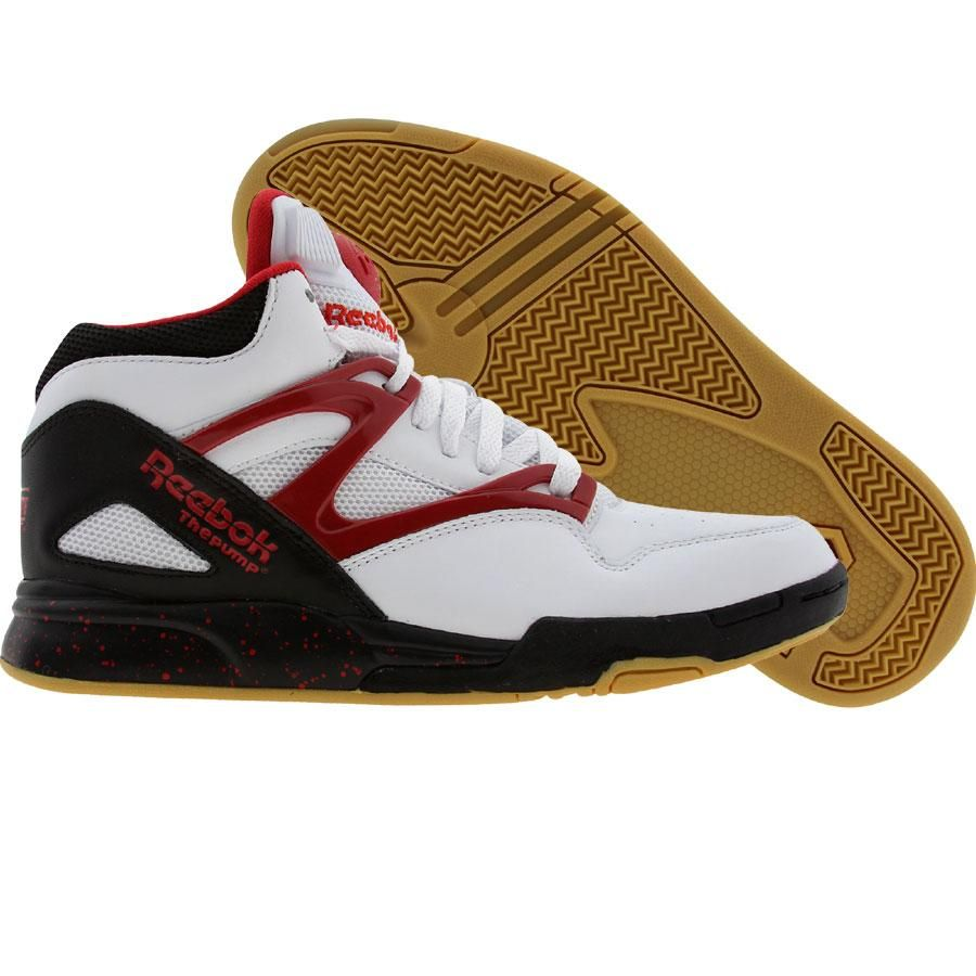 Explore School Shoes, Pumps, and more! Reebok Pump Omni Lite in white, black,  and flash red