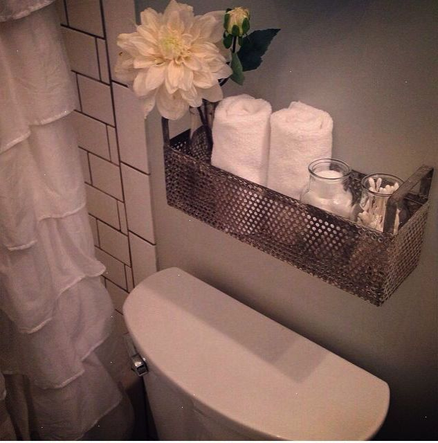 Extra Storage With A Shelf Behind The Toilet. Joanna