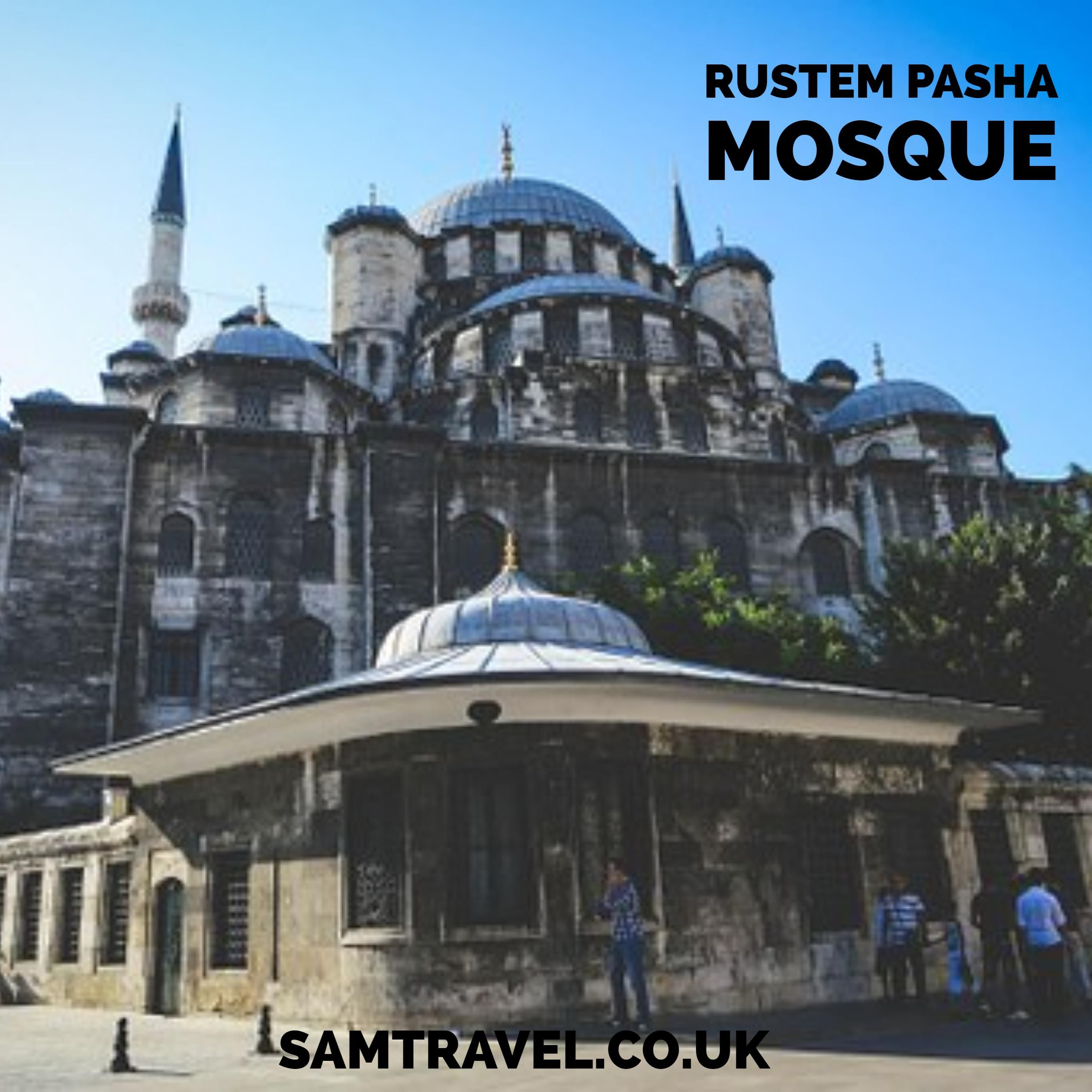 The Rustem Pasha Mosque Is A 16th Century Ottoman Mosque Located In