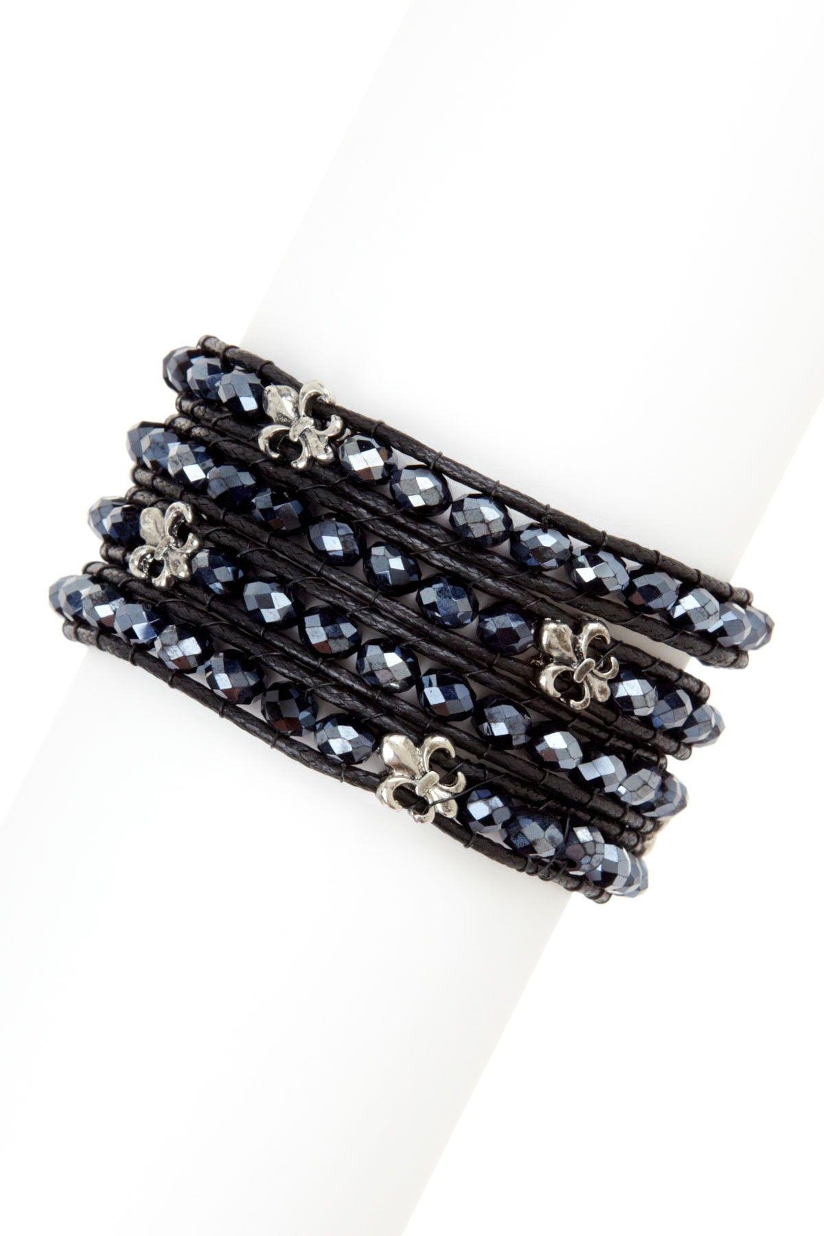 Fleur-de-Lys Wrap-Around Bracelet