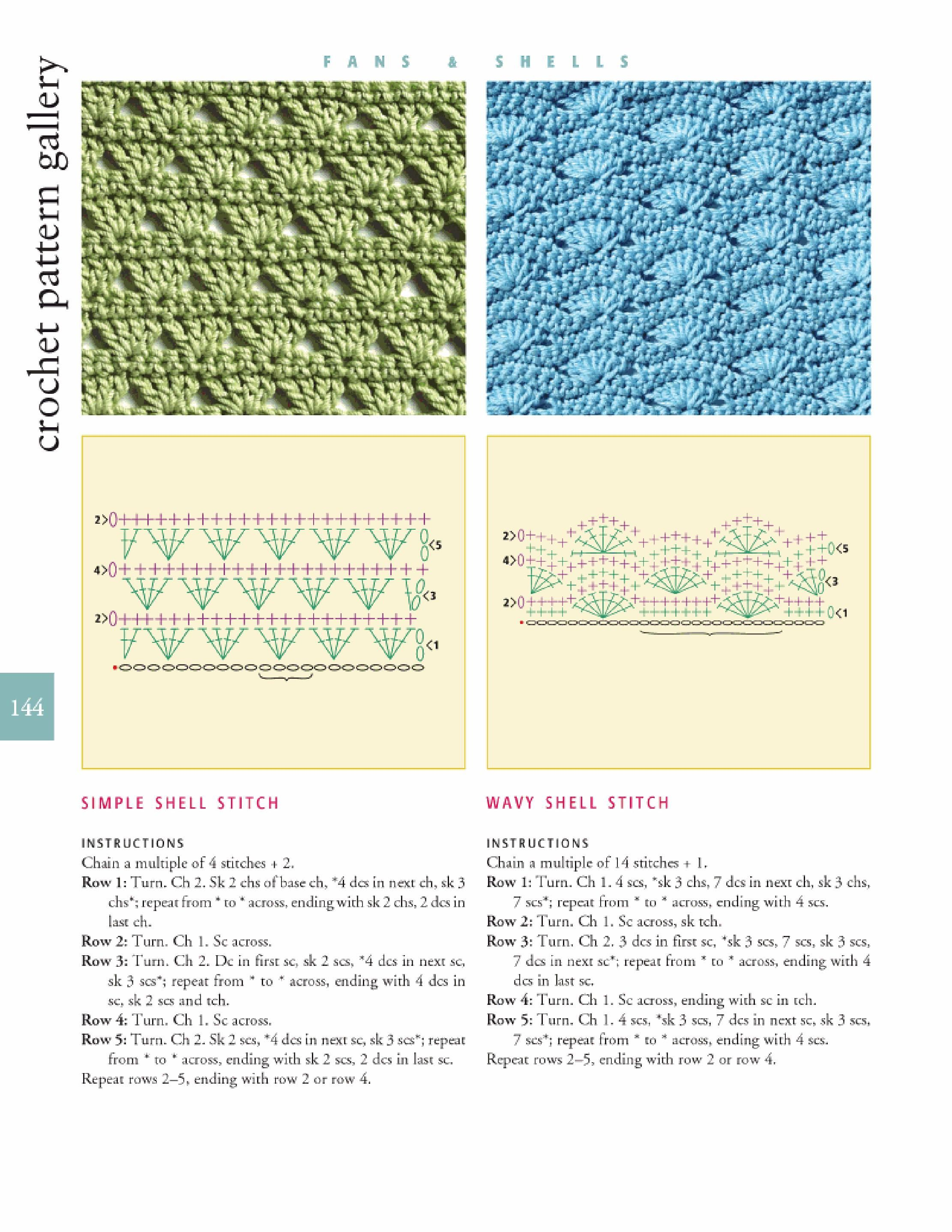 Wavy shell stitch! Just the kind of instructions I work beat with ...