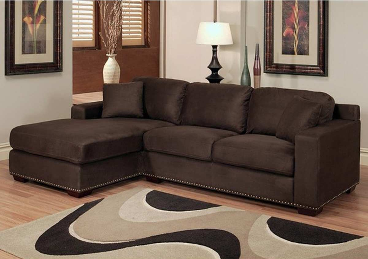 Monrovia Dark Brown Sectional Sofa