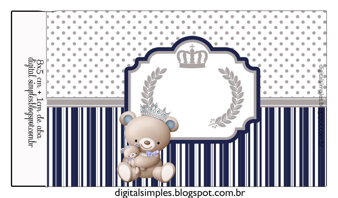 "Birthday Kit ""Prince Teddy Bear"" Print - Simple Digital Invitations"