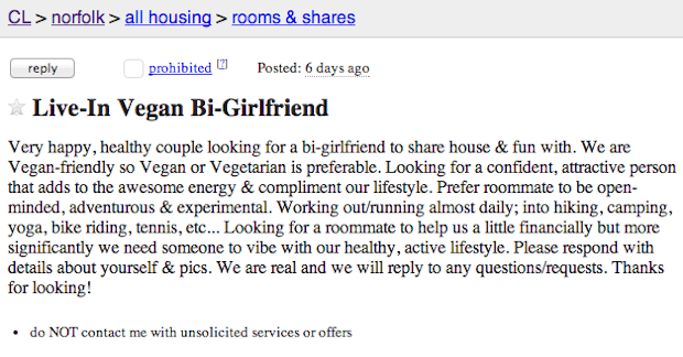 Awesome Roommate Wanted Unbelievable Roommate Ads From Craigslist Roommate Wanted Ads Craigslist