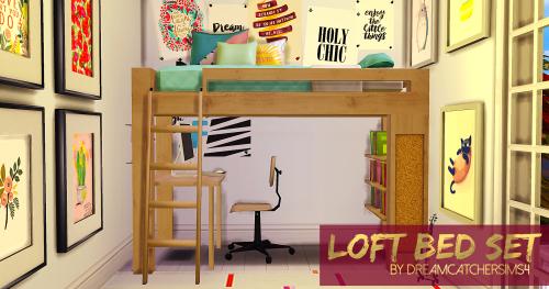 Loft Bedroom Set by DreamcatcherSims4   Casa sims, Sims ...