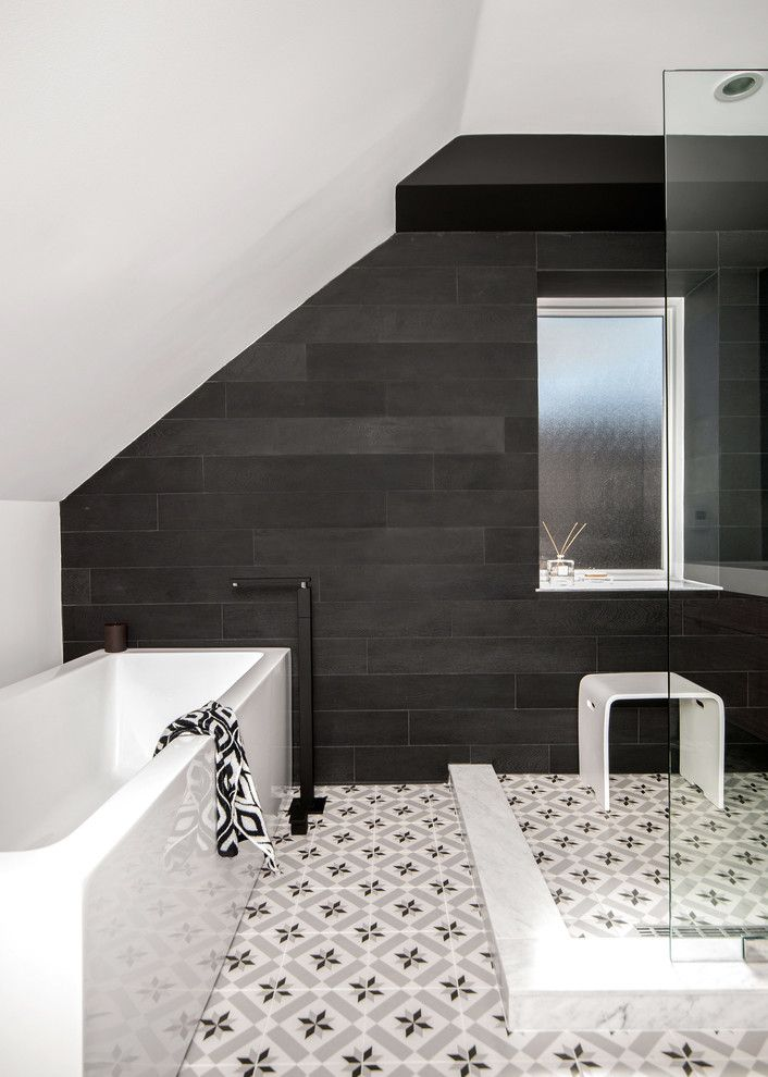 Moroccan Floor Tile Bathroom Contemporary With Ann Sacks Tile