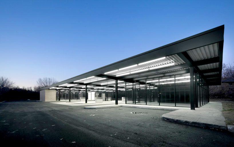 Mies Van Der Rohe gas station, Nun's Island, Canada.