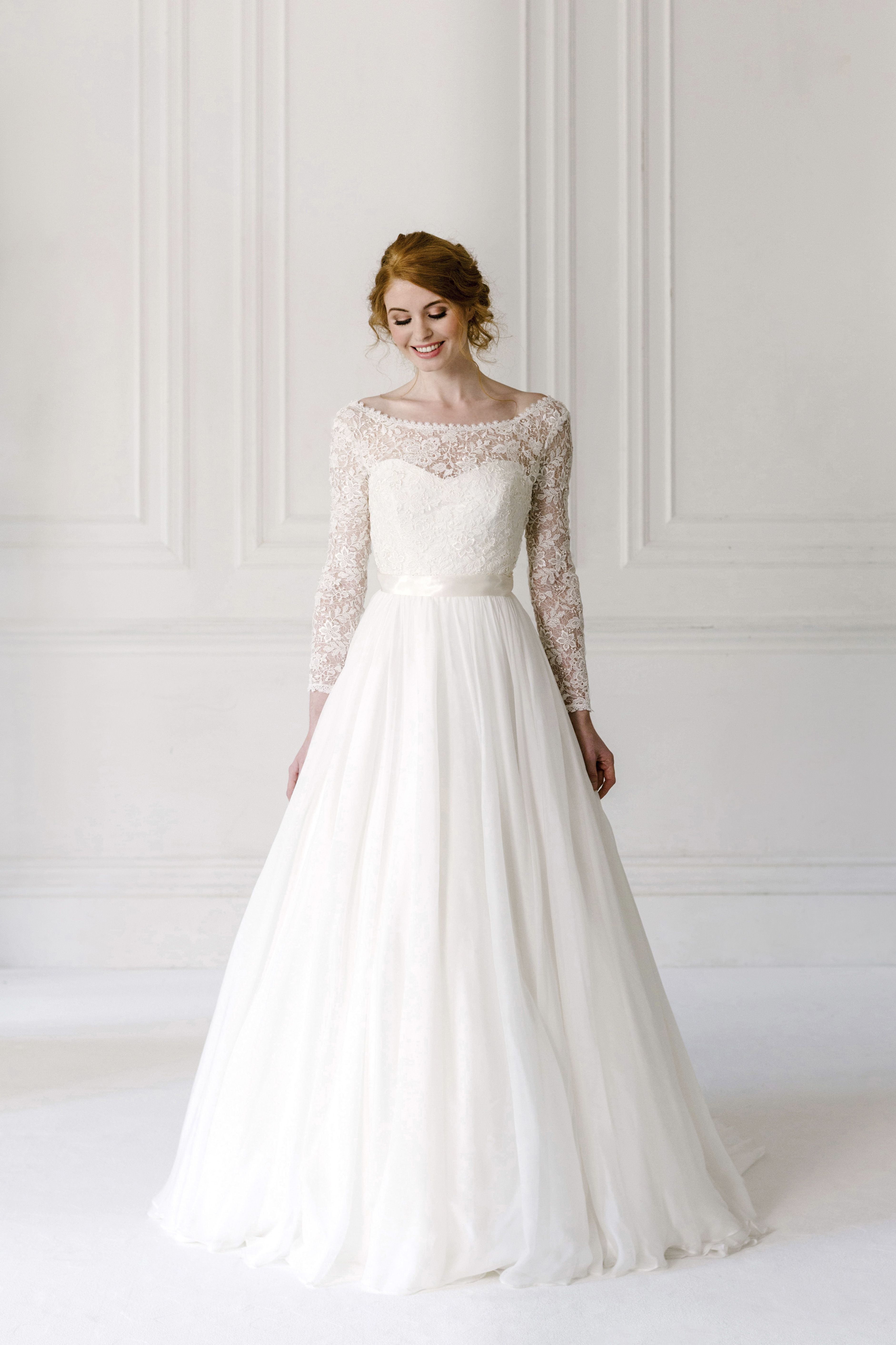 Naomi neoh uivory fleuru wedding dress with guipure lace jacket from