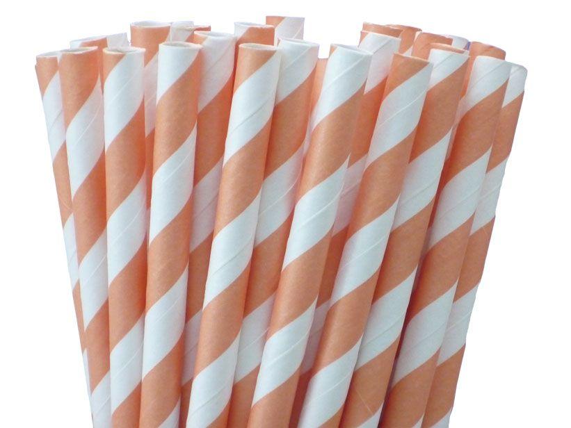 Greenmunch - Paper Straws - Cantaloupe Orange Stripes, (http://www.greenmunch.ca/paper-straws/stripes/paper-straws-cantaloupe-orange-stripes/)