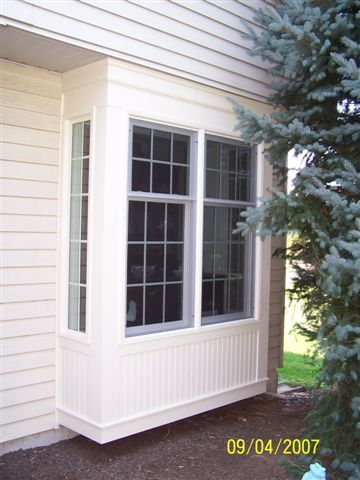 Box bay window this style of window projects from the for Box bay window