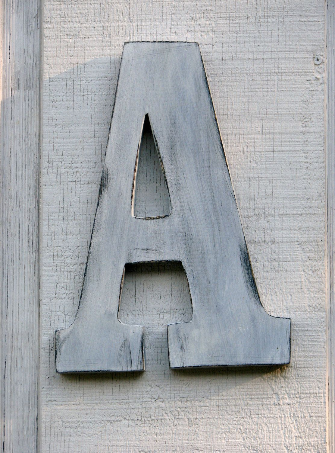 Large Rustic Wall Letters Large Rustic Wooden Wall Letter A Distressed Painted White12