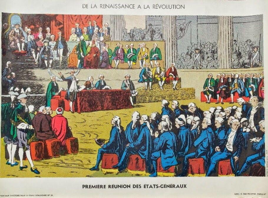 Manuels Anciens Affiche Histoire N 24 Premiere Reunion Des Etats Generaux Histoire En Images Histoire Ancienne Histoire De France