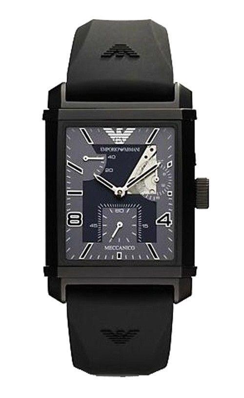 6a0a6f578a3d Emporio Armani Automatic Meccanico Black Power Reserve Watch AR4240 RRP£350
