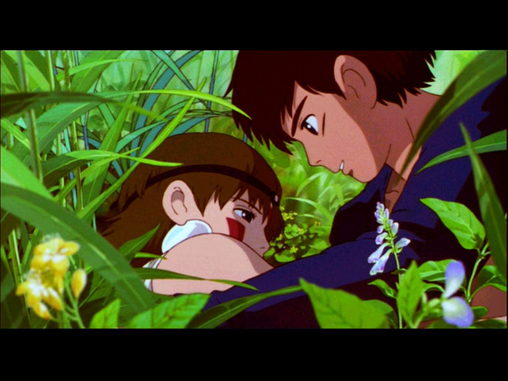 "Ashitaka wakes San up - ""Princess Mononoke"" (1997 ..."
