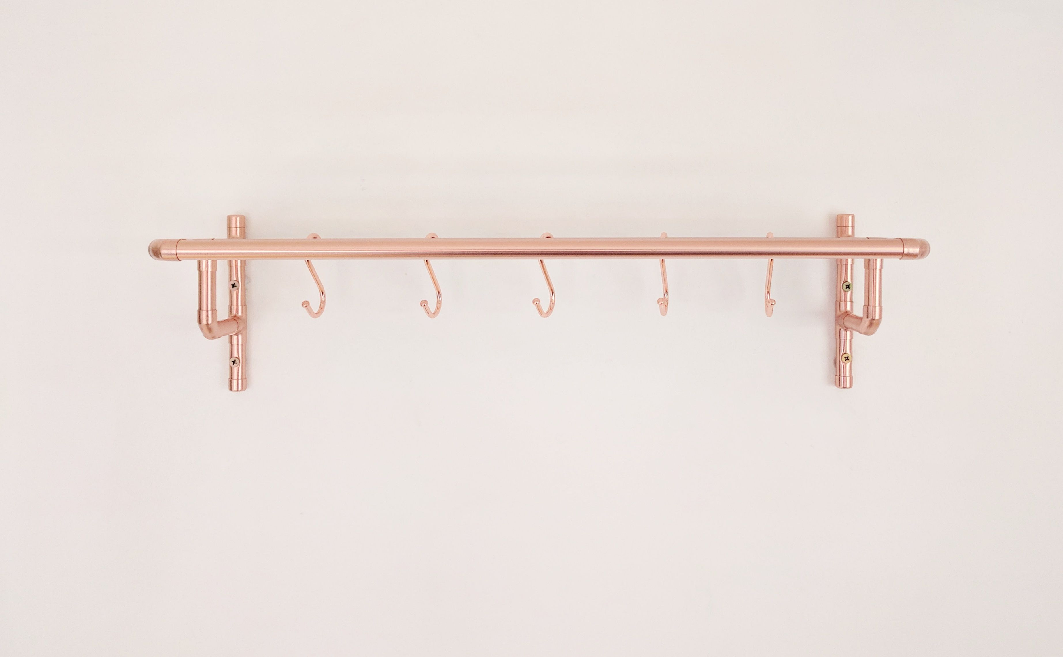 Wall Mounted Copper Pot And Pan Rack eser✨se Pinterest