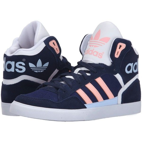super popular bf5b7 1d02c adidas Originals Extaball W Women s Classic Shoes ( 75) ❤ liked on Polyvore  featuring shoes, laced shoes, high top lace up shoes, bright shoes, ...