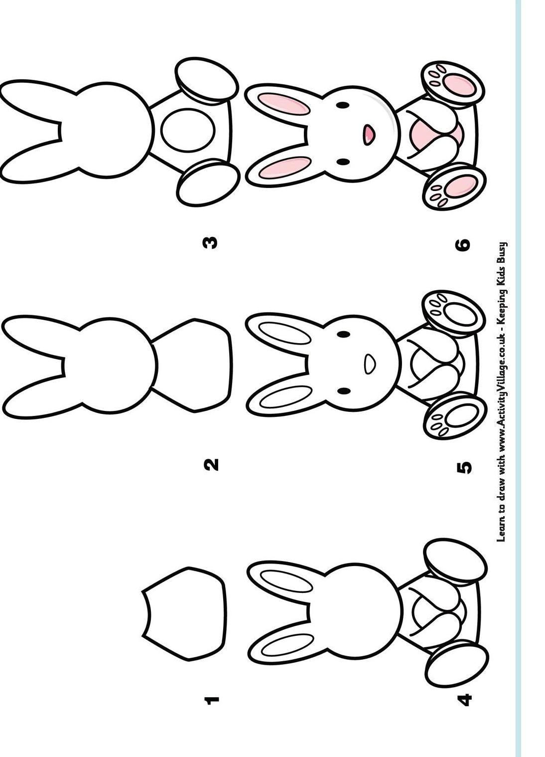 Learn To Draw A Rabbit Jpg 1 094 1 518 Piks Dessin Lapin Apprendre A Dessiner Dessin Coloriage