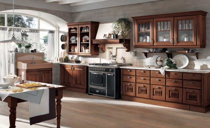 Kitchen:Beautiful Kitchen Design Idea Contemporary Home Kitchen Design Ideas With Wooden Laminating Flooring Alsowith Island Also Panel Appliances Also White Ceramic Backsplases Tile Also Countertop Also Pendant Lamp