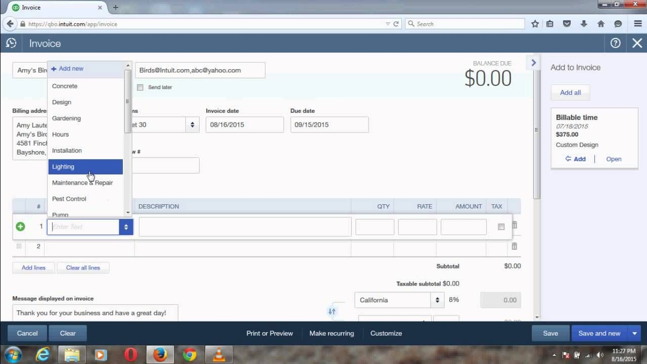 Email Invoice To Multiple Email Addresses With QuickBooks Online - Quickbooks invoice email