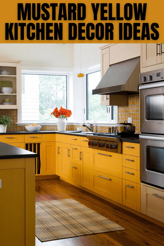 Mustard Yellow Kitchen Decor Ideas Yellow Kitchen Decor Small Kitchen Decor Small Kitchen