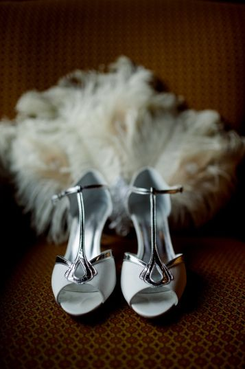 Art Deco Wedding Shoes || Sarah + Lee