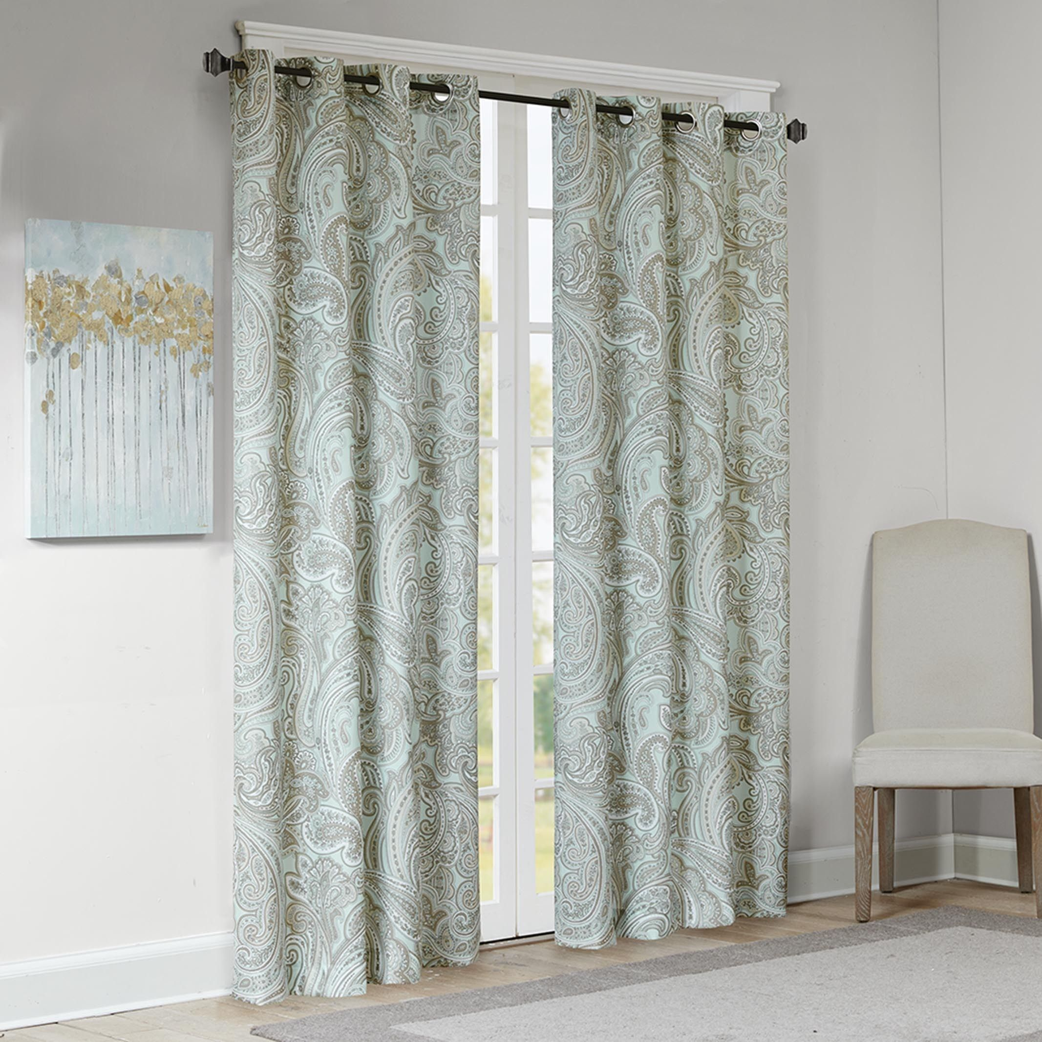blue collections burnout curtain wonderhome cotton poly home panel curtains josephine wonder
