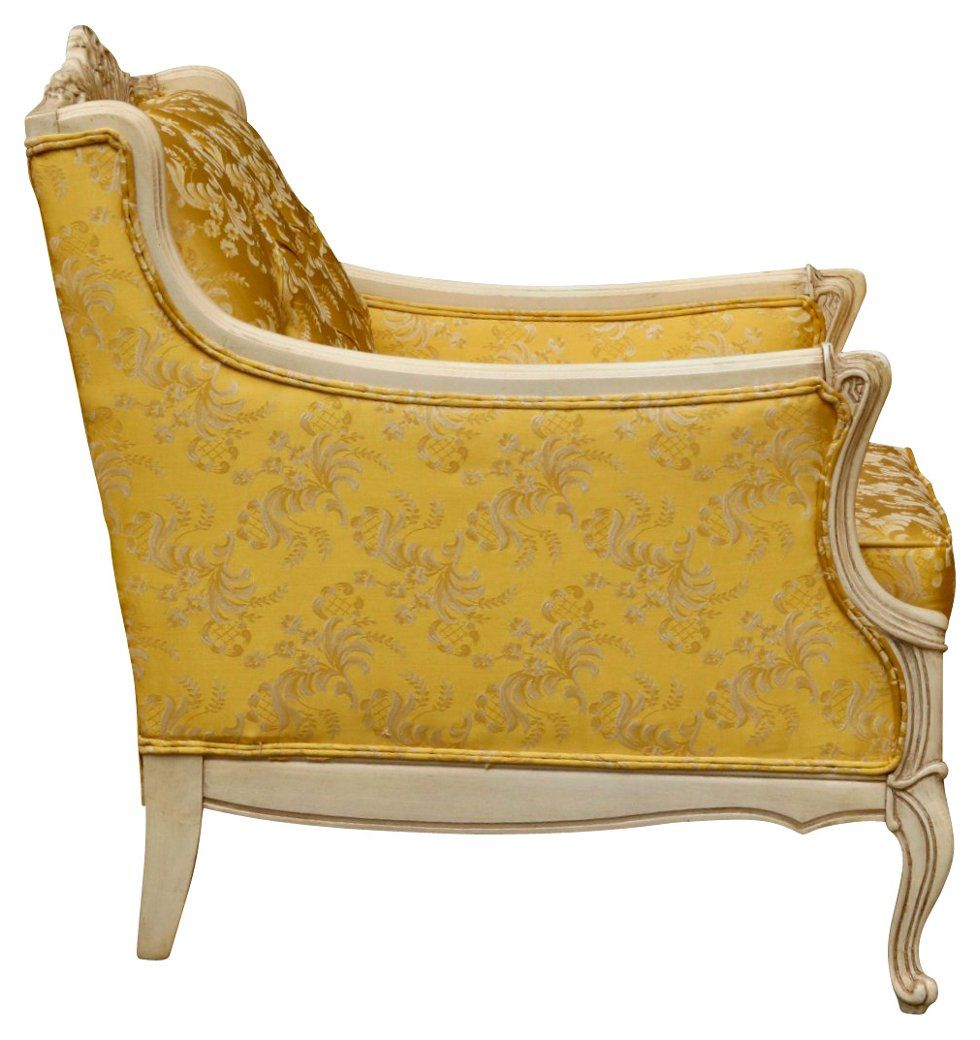 Louis Xv Bergera C In Antique White Gold Accent Chairs Chairs