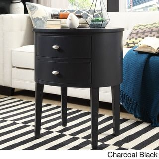 Aldine 2 Drawer Oval Wood Accent Table By Inspire Q Bold Wood