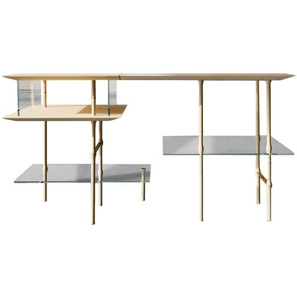 Giacomo Moor Stilt Desk ($6,710) ❤ Liked On Polyvore Featuring Home,  Furniture,