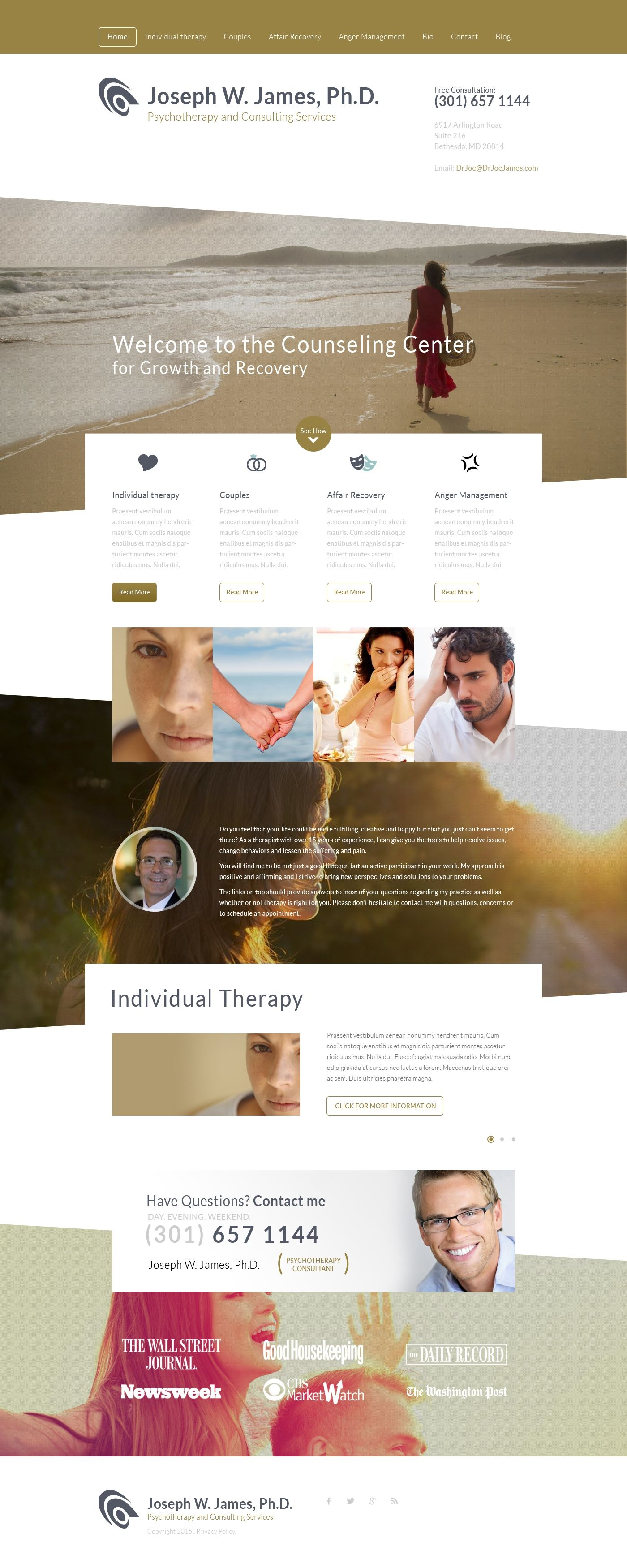 Home Page Redesign For Psychologist Website