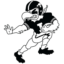 Pin By Terri Barrett On Vinyl Football Coloring Pages Coloring Pages Iowa Hawkeyes