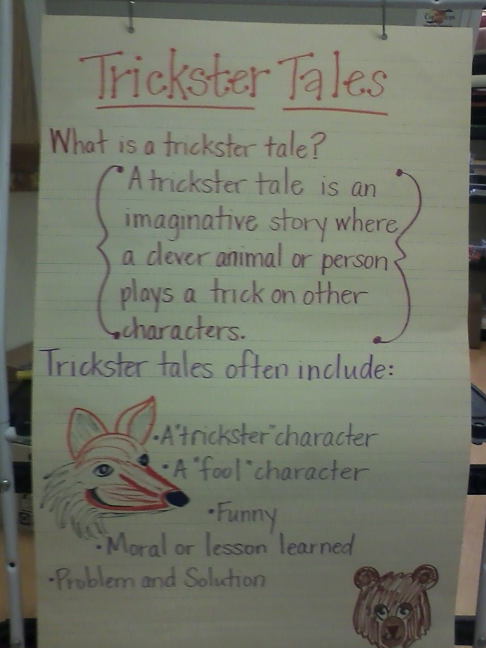 trickster tales Of all the characters in myths and legends told around the world, it's the wily trickster who provides the real spark in the action, causing trouble wherever he goes.