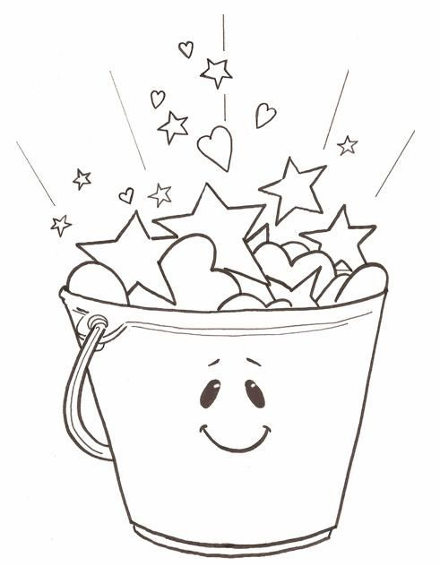 today is going to be awesome coloring page - have you filled a bucket today opening school