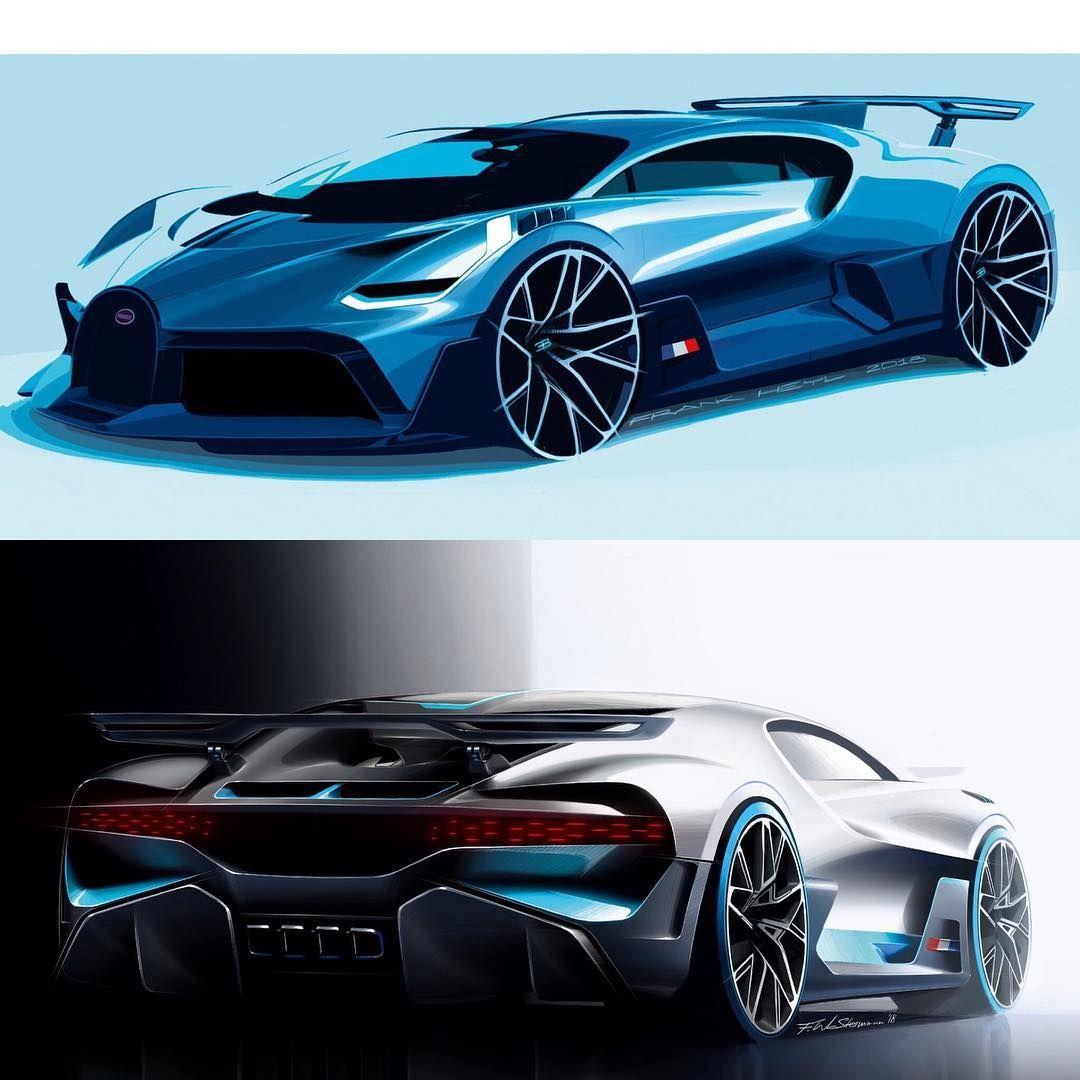 2019 Bugatti Divo Official Sketches Cars Futuristic Cars