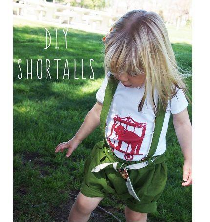 Tutorial: Bubble suspender shorts for little girls