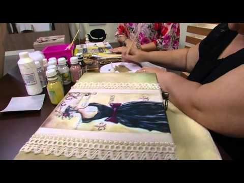 Mulher.com - 12/02/2016 - Caixa de costura mdf decorada - Rose Rodrigues PT2 - YouTube