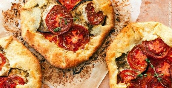 Heirloom Tomato and Eggplant Galette | KitchenDaily.ca