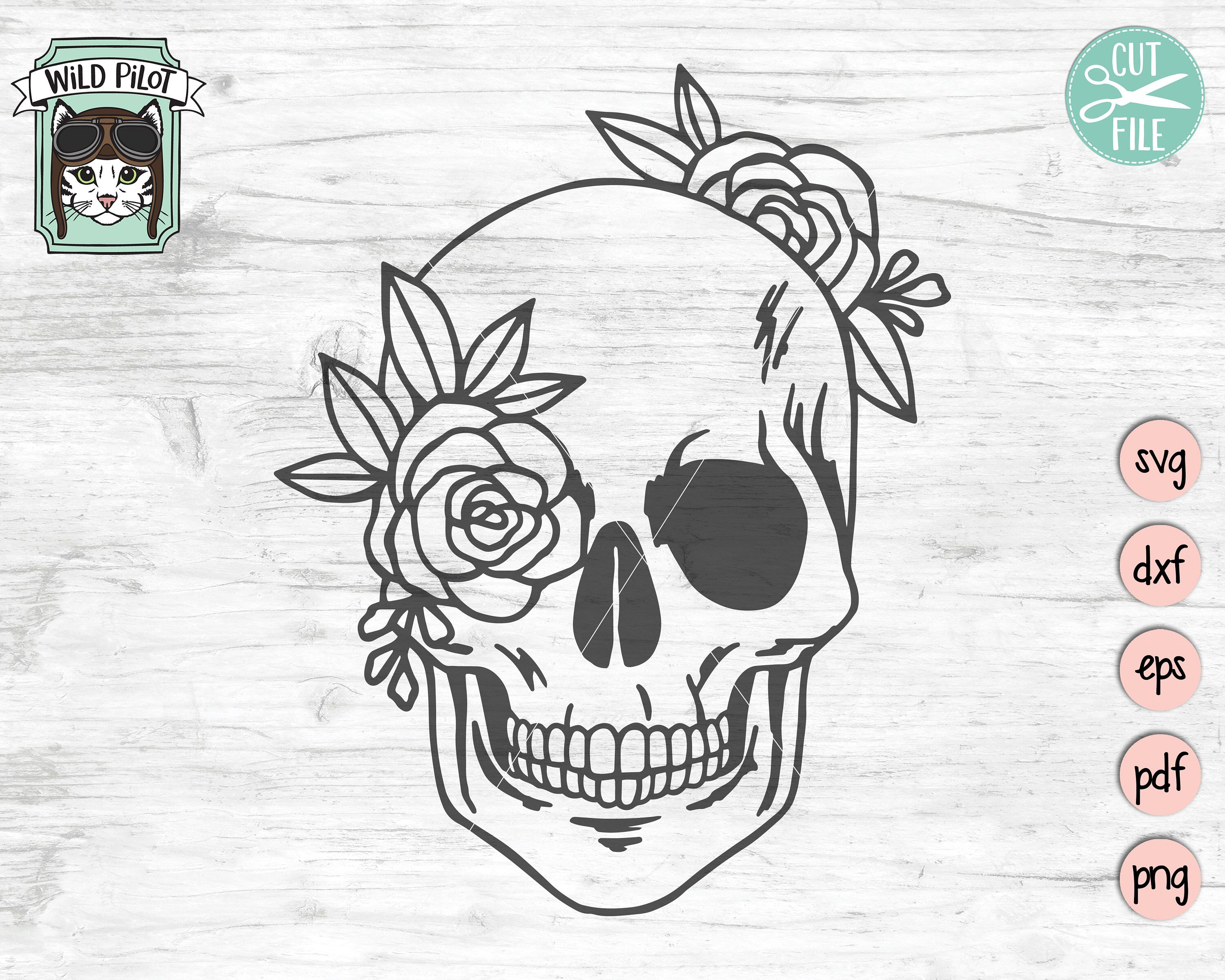 18++ Skull and roses svg inspirations
