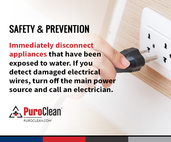 Safety & Prevention Immediately disconnect appliances