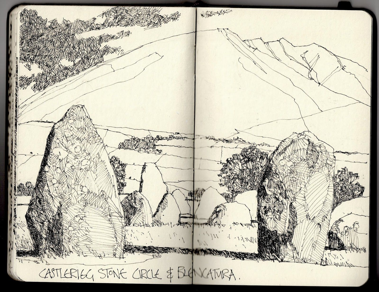 Ian Sidaway Fine Line Landscape drawing Pinterest Draw and