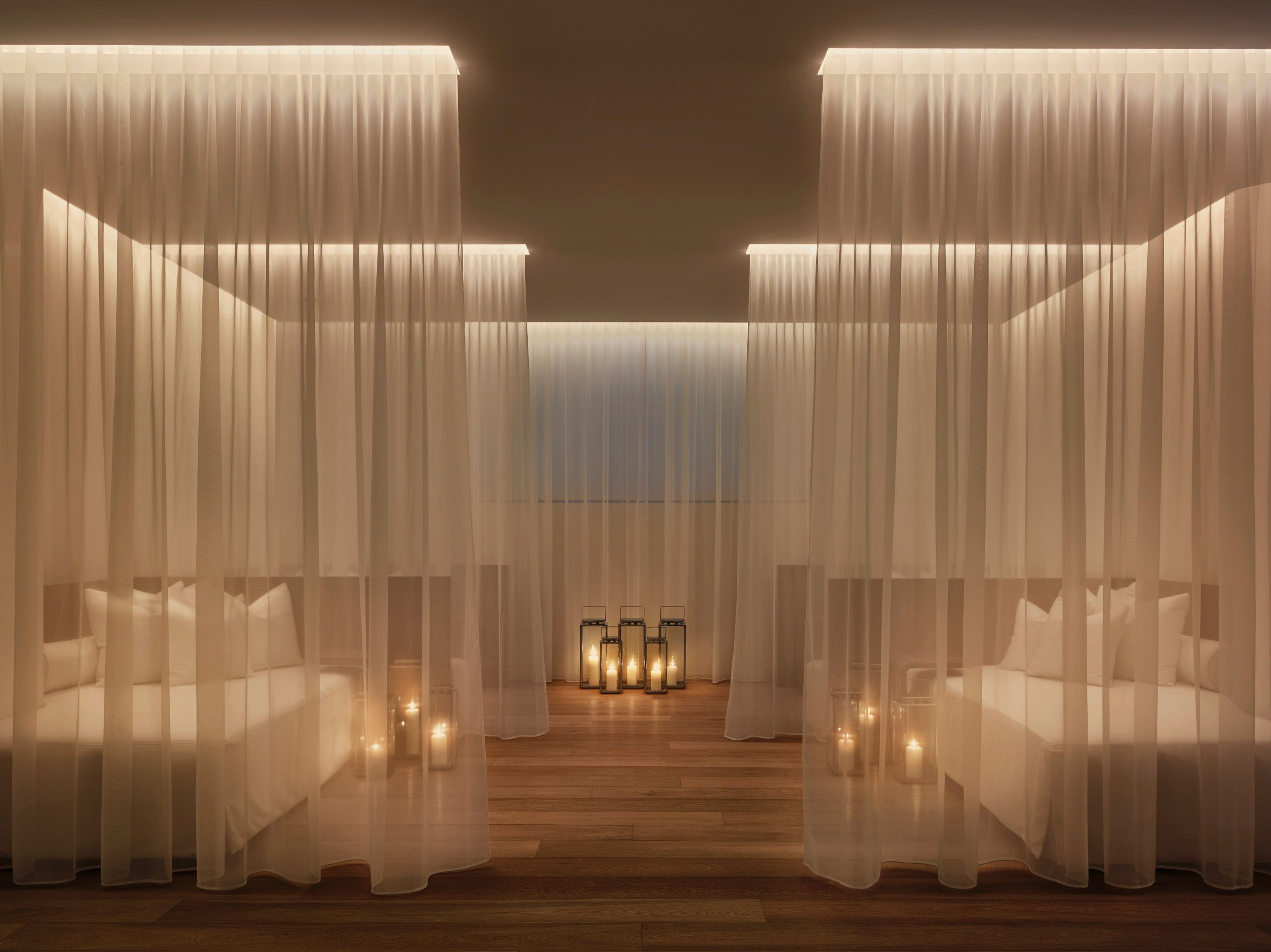 yabu pushelberg, the miami beach edition, spa relaxation room