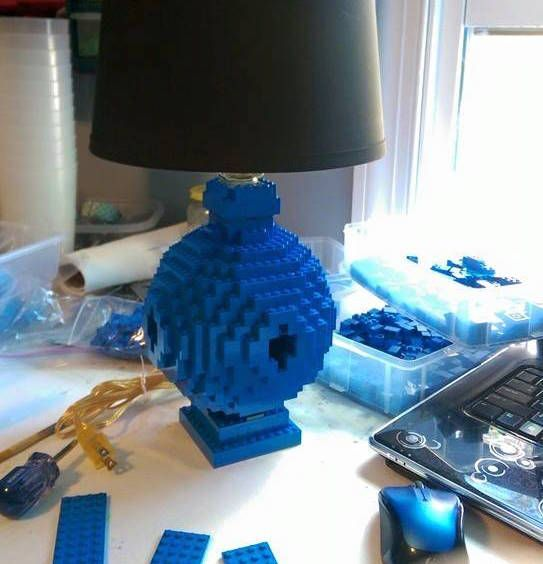 Build A Rounded Lego Lamp Home Make Lego Lamp Lego Diy Projects Lego Diy