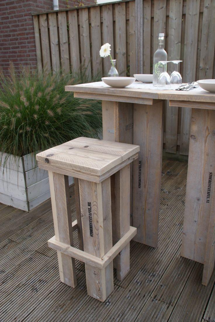 Hedendaags Steigerhout (met afbeeldingen)   Hoge tafel, Zelfgemaakte meubels AN-67