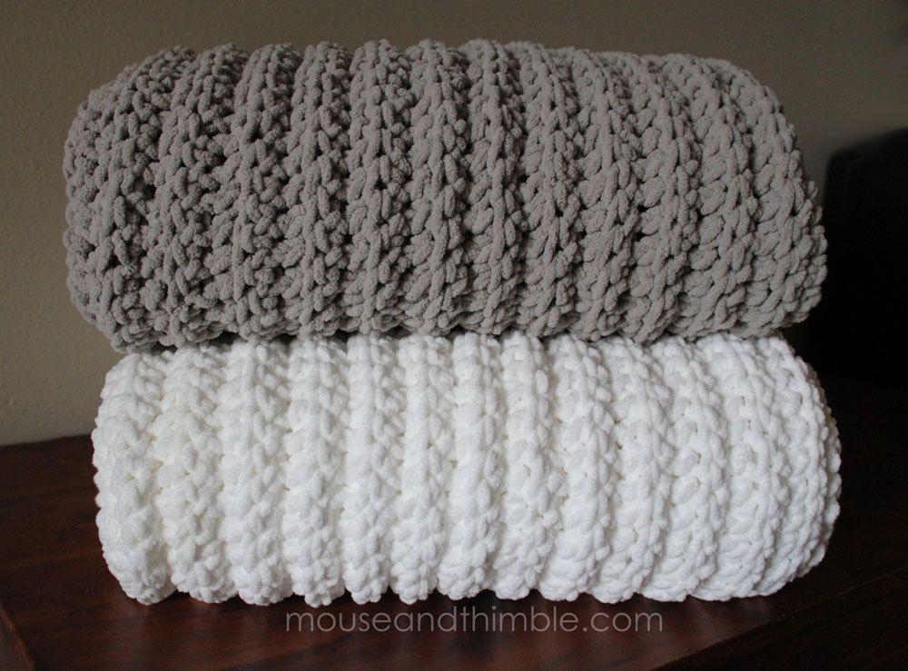 Crochet Pattern Fisherman Blanket Extra Large Bulky Fleece