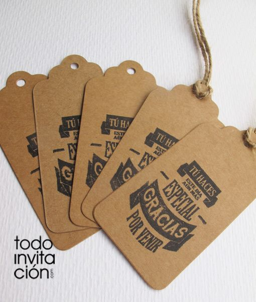 Etiquetas kraft para detalles regalos invitados boda - Regalos envueltos originales ...