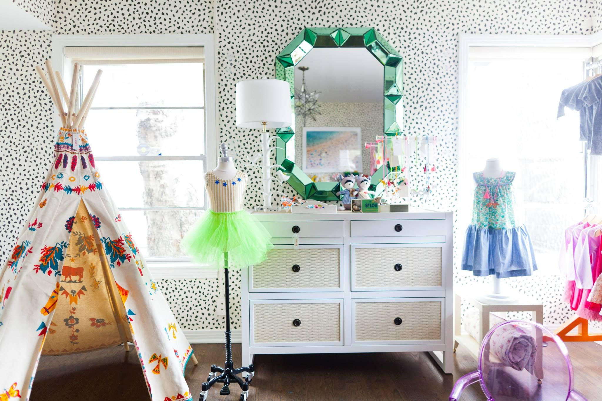 Little bean shop bungalow romano mirror and mallet drawer