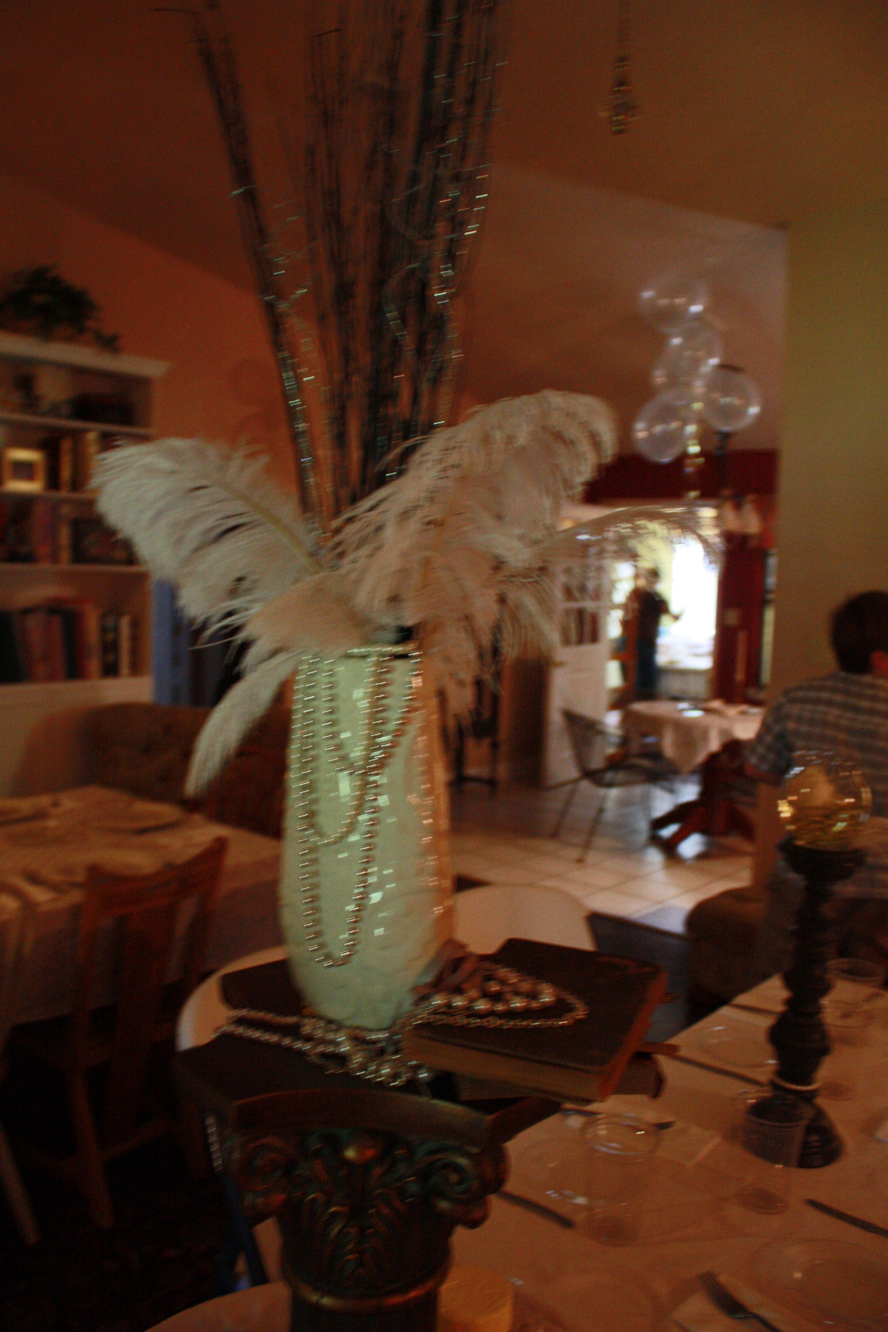 Birthday Dinner Party Ideas Part - 39: Great Gatsby 18th Birthday Dinner Party Centerpiece