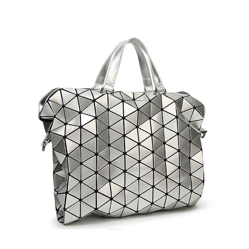 Fashionable Geometric Design Bao Bao Shopper Bag